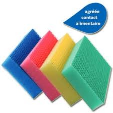 EPONGE HACCP COLOR CLEAN  VERTE LOT DE 4